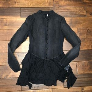 Women's size 4 free people button up jacket